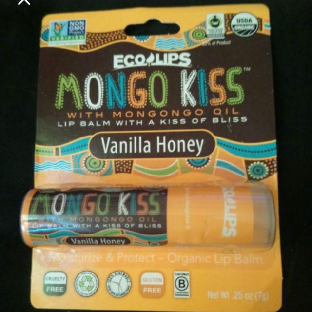 全新美國帶回ECO LIPS香草蜂蜜天然有機護唇膏