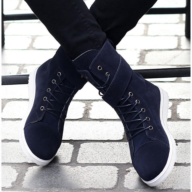 新鮮貨冬季韓版馬丁靴 男士雪地潮流短靴男鞋高幫男靴馬靴中幫保暖棉靴子