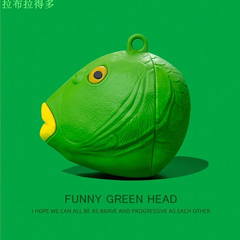 『台灣發貨』搞怪魚頭airpods蘋果藍牙耳機套pro硅膠保護套防摔華強北二三代軟