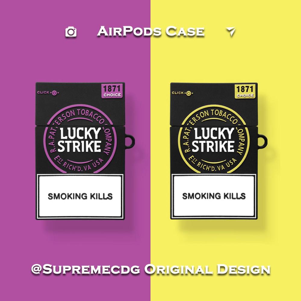 香煙盒 Airpods保護套 日韓ins風 蘋果無線藍牙耳機防摔軟殼 Airpod硅膠耳機盒子