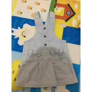 新生兒 嫩嬰 0~6m牛仔吊帶裙 臺中市