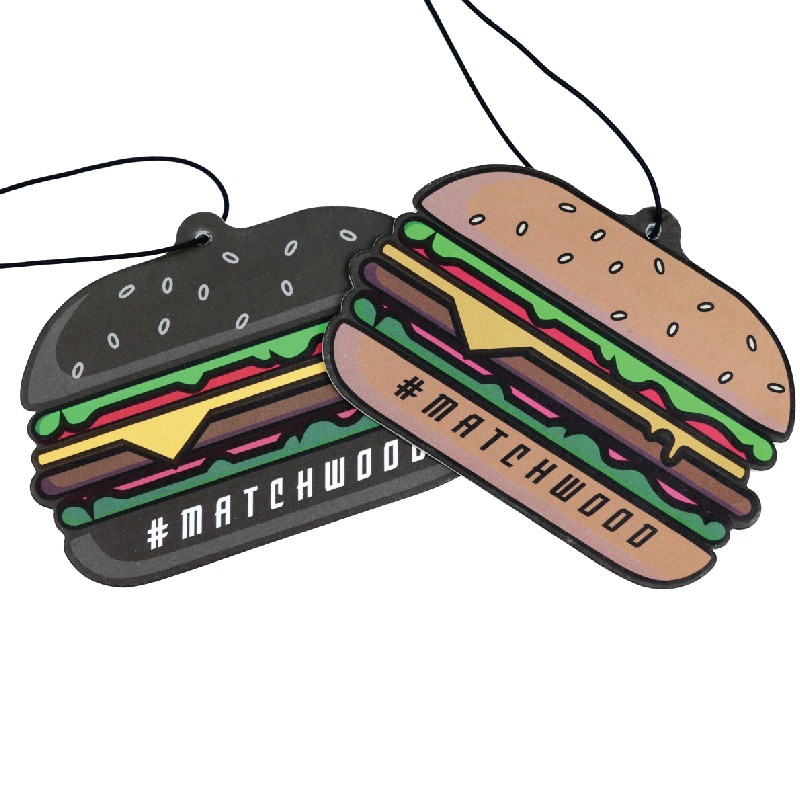 Matchwood Air Freshener 美式漢堡造型香氛香片 香香片 香氛吊卡 擴香片 官方賣場