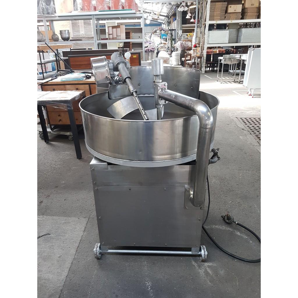 [龍宗清] 白鐵炒食機(炒肉鬆機) (20050601-0003) 轉鼎式炒肉鬆機 轉鼎式炒食機 迴鍋式焙炒機~缺貨~