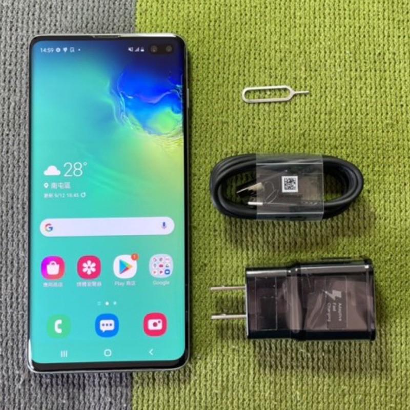 Samsung S10+ 128G 無傷95成新 綠 6.4吋 s10 plus 三星 雙卡雙待 二手機 螢幕輕微烙印
