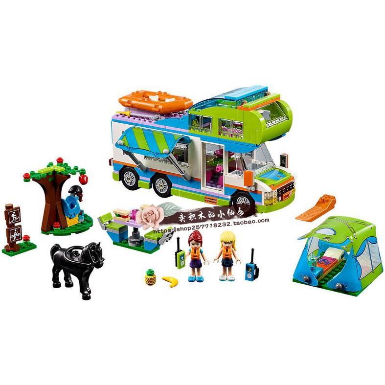兼容樂高41339女孩好朋友系列 米婭的野營車露營車 拼裝積木女孩玩具