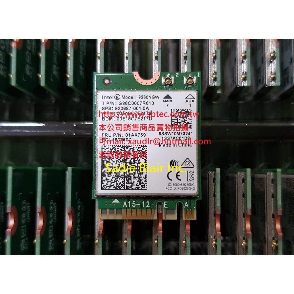 支援Jetson nano三年保Intel無線網卡AC 9260 802.11ac 1.73G 藍芽5.0(AC9260