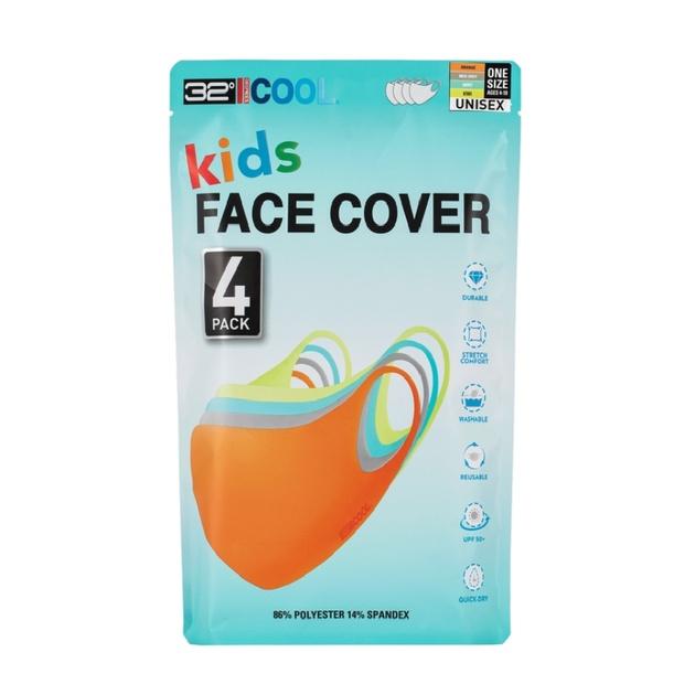 ღ馨點子ღ 32 Degrees 兒童涼感口罩 4入 布口罩 涼感 非醫療 #1463829