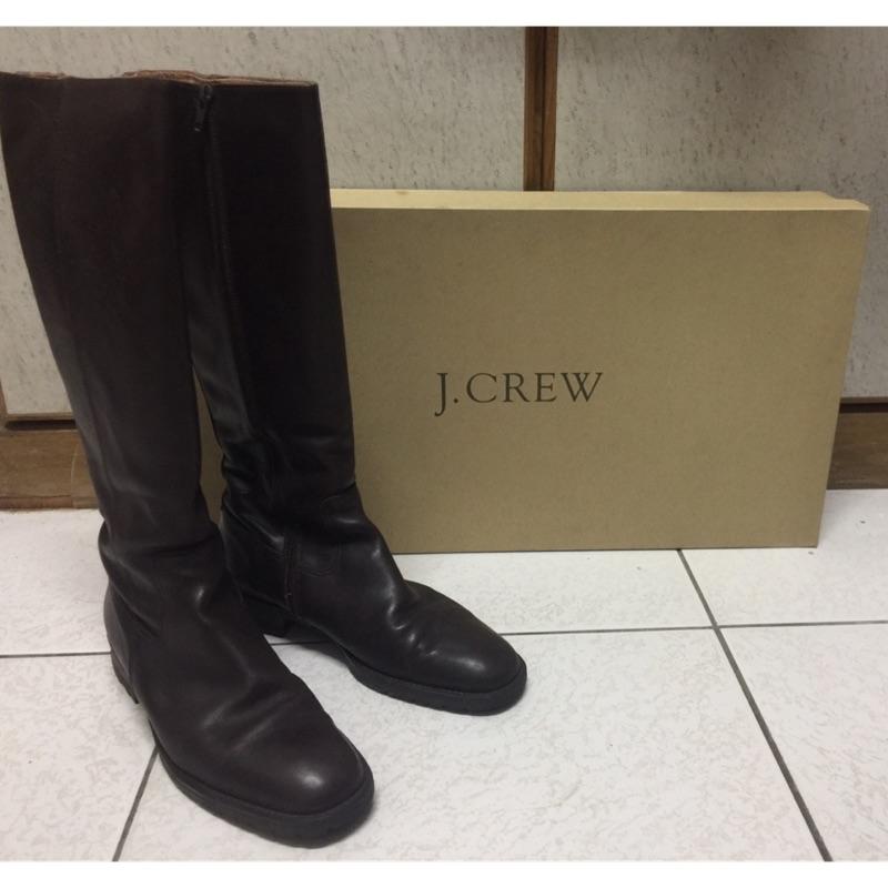 J.CREW女膝下皮長靴