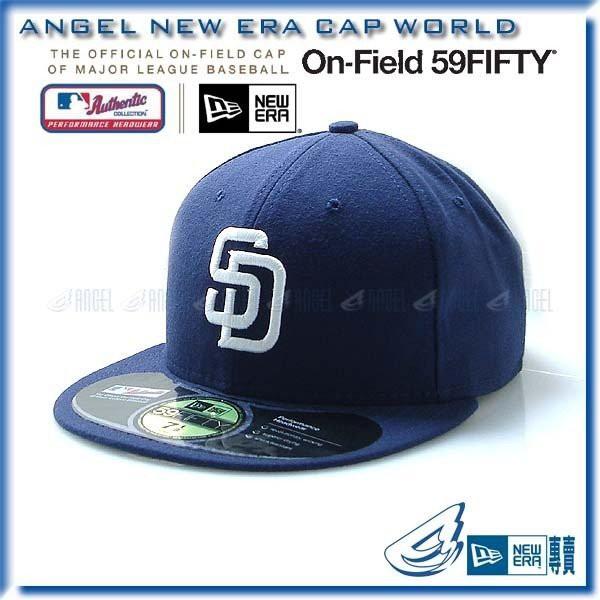 【ANGEL NEW ERA】MLB 聖地牙哥 教士 隊 59FIFTY 正式球員帽 棒球帽 深藍
