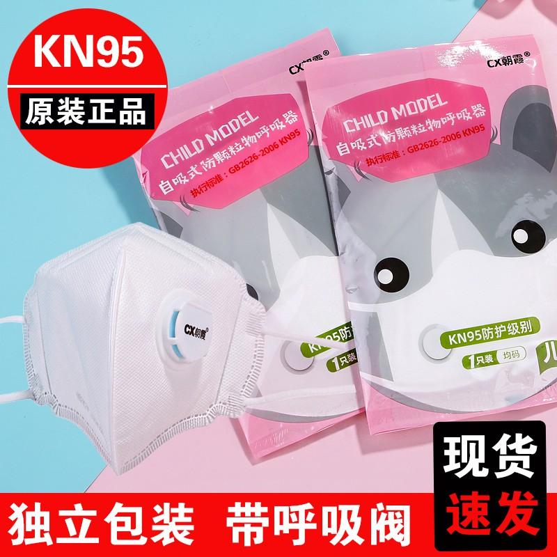 立體小孩兒童幼兒kn95防護口罩獨立包裝防塵透氣小童男童女童N95