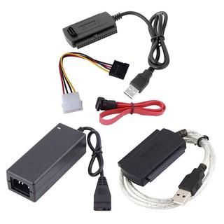 適用於2.5 /  3.5英寸硬盤驅動器的大型SATA /  PATA /  IDE轉USB 2.0適配器轉換器電纜充電線