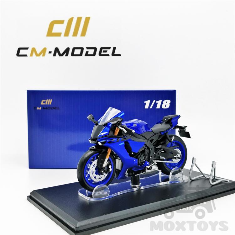 CM MODEL 1:18 YAMAHA R1 Blue 模型機車