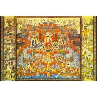 熱賣現貨【關注有禮】佛祖佛像木質成人1000片拼圖佛教寺廟供奉菩薩唐卡宗教