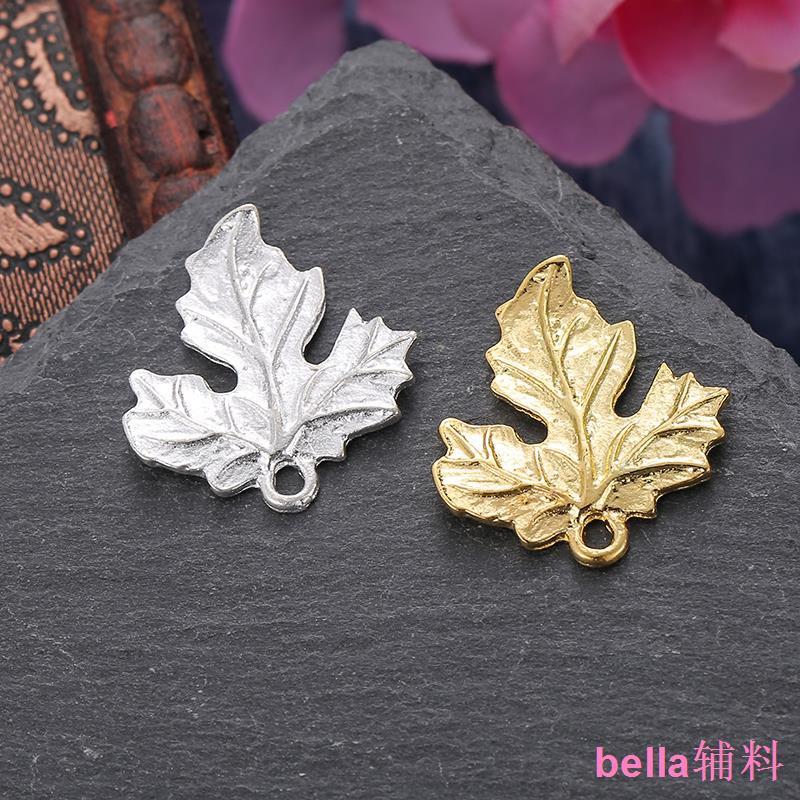 diy古風發簪頭飾配件步搖合金樹葉仿鑄銅材料三葉楓葉1個