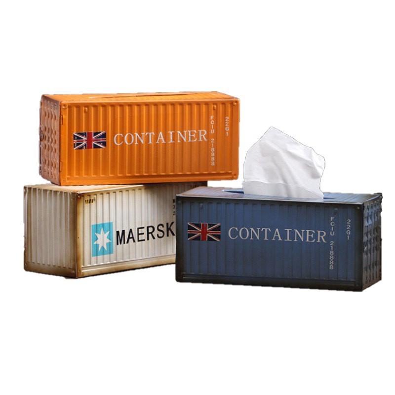美式復古貨櫃屋面紙盒 衛生紙盒 紙巾盒 仿舊 工業風 LOFT 卡車 貨櫃 抽取式衛生紙