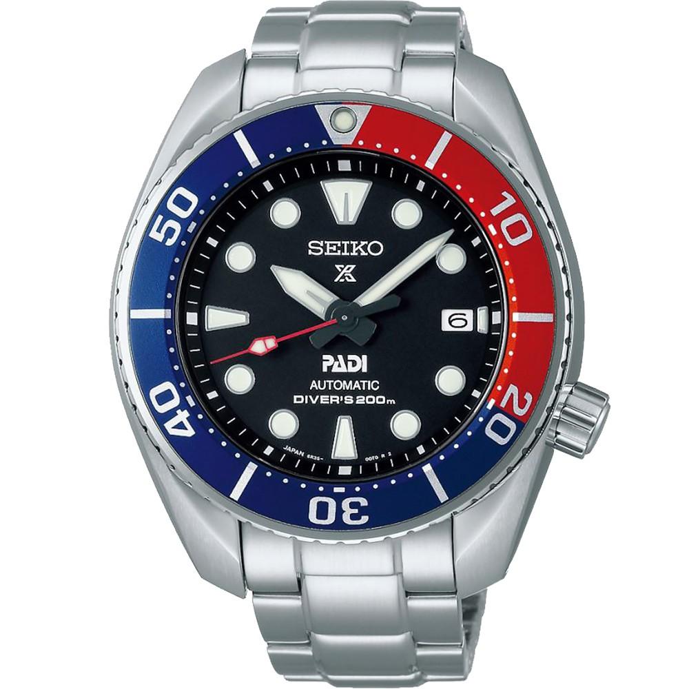 【SEIKO 精工】Prospex SCUBA PADI 潛水機械錶-45mm(SPB181J1/6R35-00R0R)