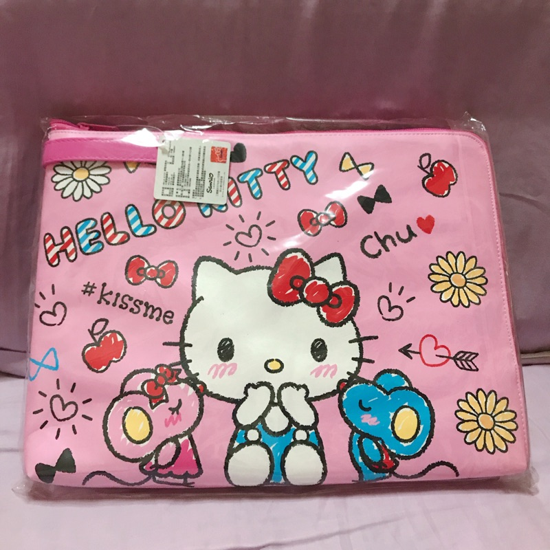 Hello Kitty 筆電袋 收納包 粉色 全新