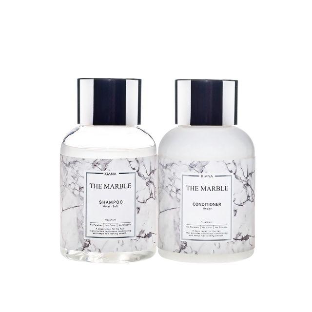 日本KIANA🌸蘊活系列THE MARBLE洗護旅行組 50ml/洗髮精/護髮潤澤導入