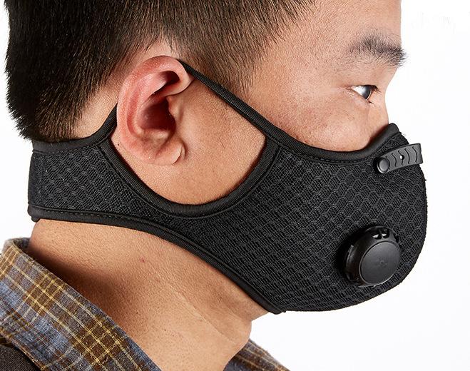 摩托車騎行面罩防風防塵防霧霾KN95活性碳濾芯電動車戶外防護口罩