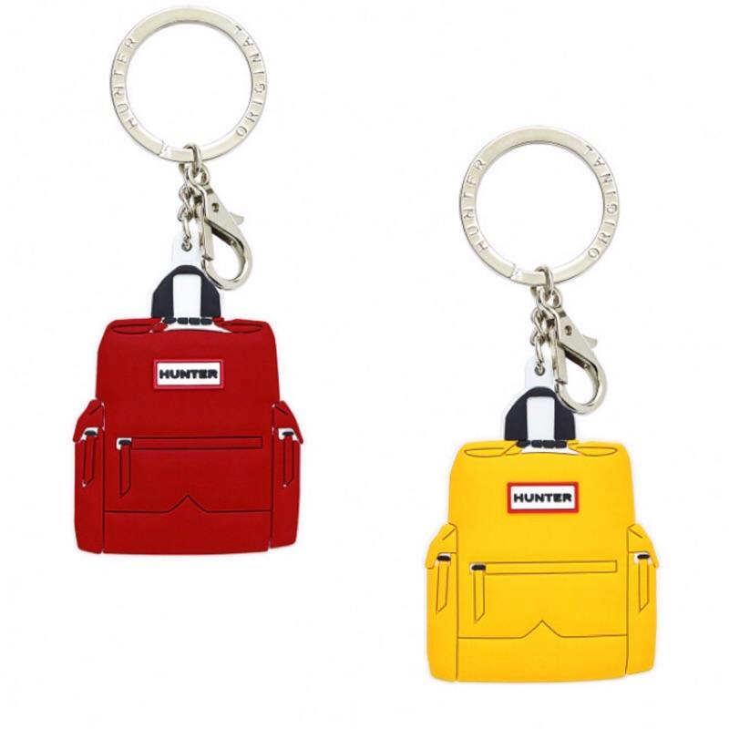 現貨❤️❤️ 英國 Hunter 可愛 黃色 深綠 經典後揹包 背包 鑰匙圈 包包吊飾