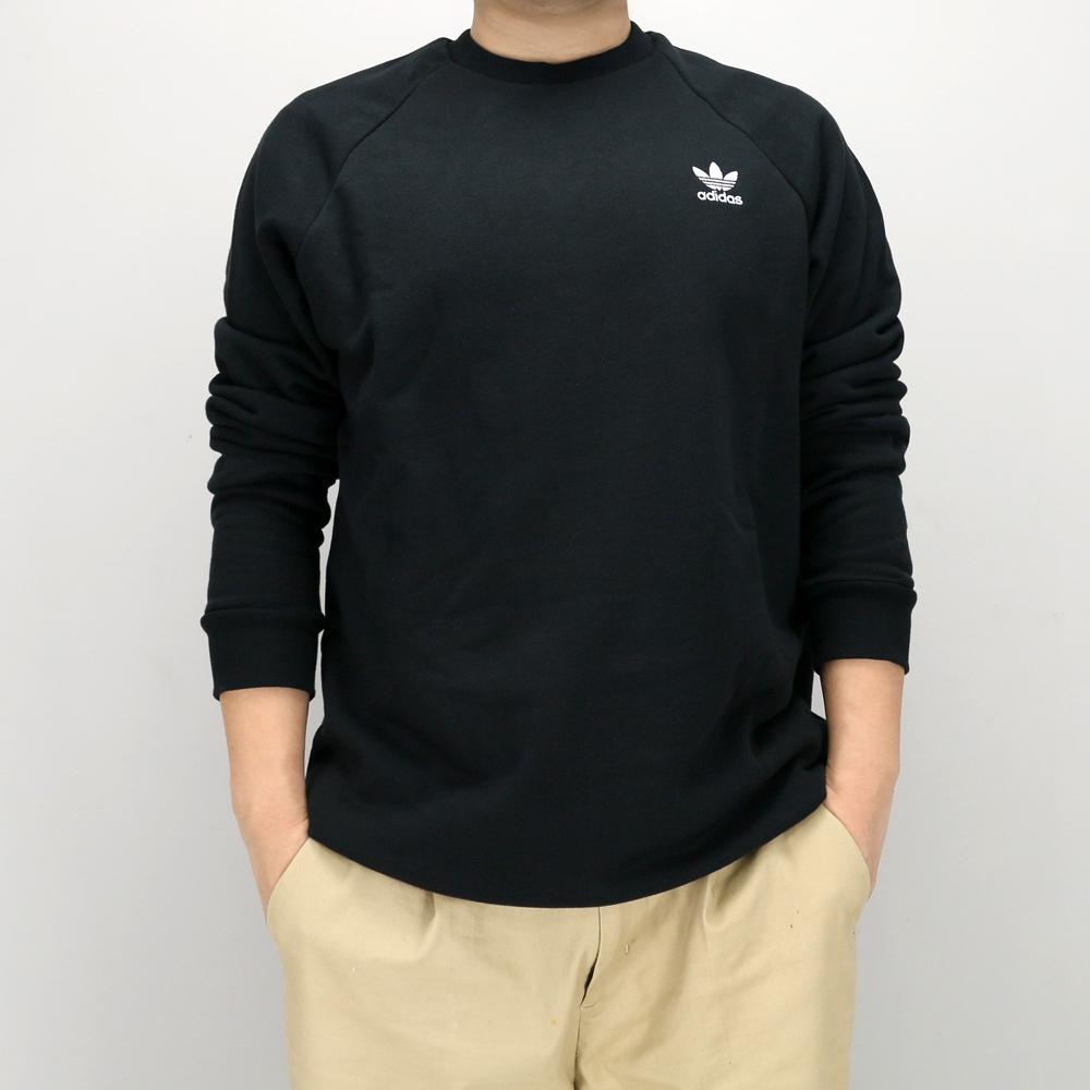 ADIDAS ESSENTIAL CREW 男圓領套頭衫 DV1600 黑