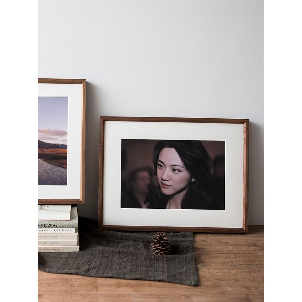 相框 黑胡桃照片相框定制實木裝裱畫框定做任意尺寸原木框掛墻字畫木質 相片框 臥室擺件 證書框 畫框 獎狀框 裝飾相框