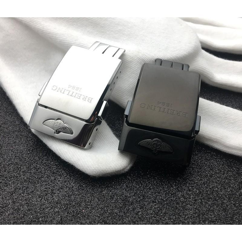 爆款熱賣適配Breitling 百年靈表扣1884原裝表扣皮帶橡膠帶折疊扣20mm