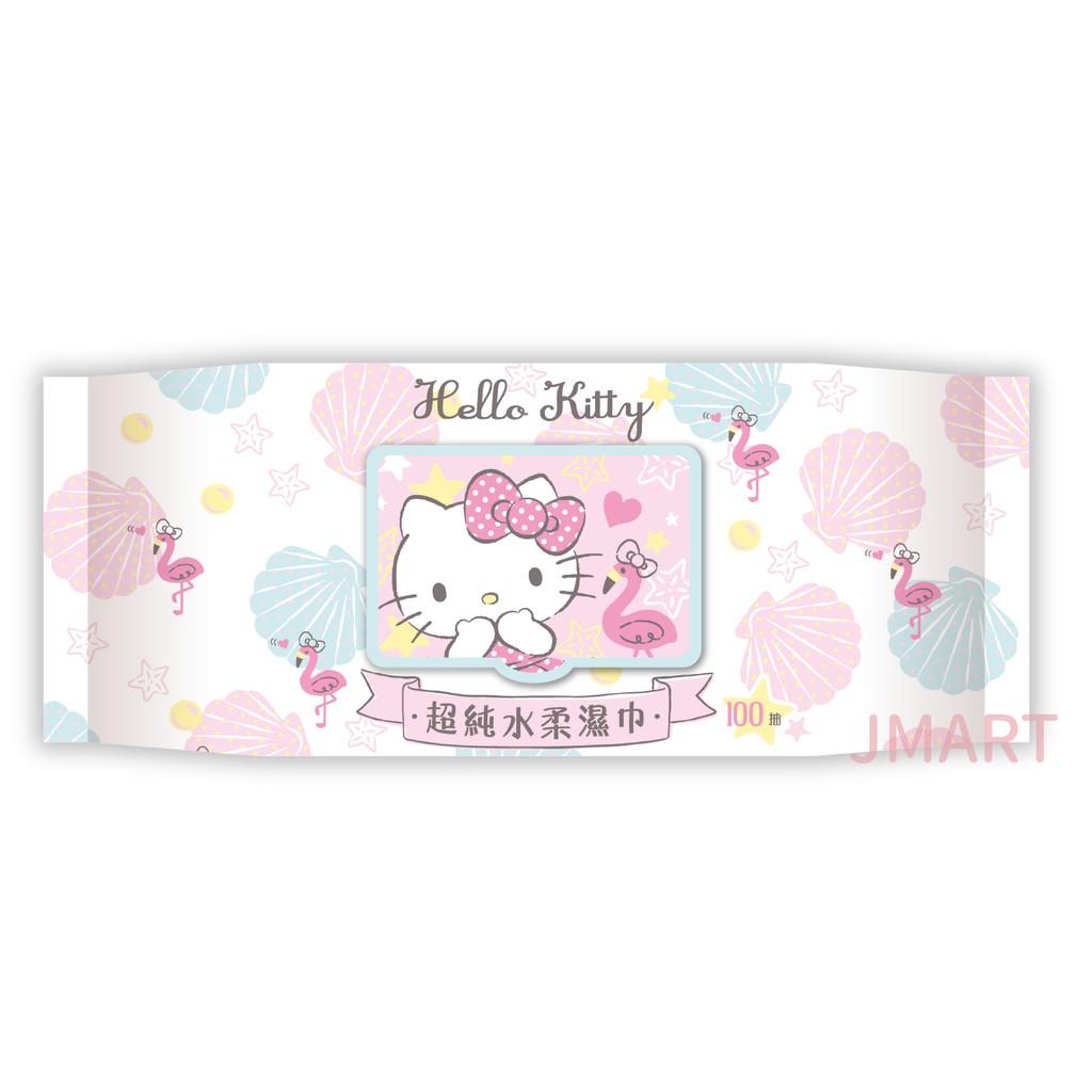 加蓋Hell Kitty超純水柔濕巾100抽【佳瑪】