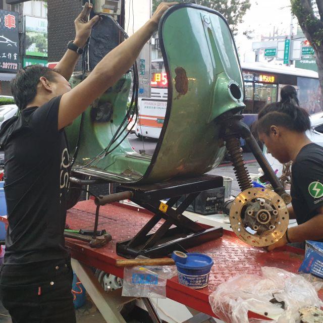 元亨電動車 油車改裝電車 馬達升級 電池加大 控制器安裝調試