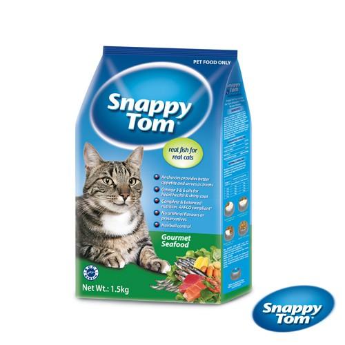 ST幸福貓 貓乾糧-特選海鮮風味-1.5kg【送伊法貓餐盒X2盒】(小魚乾添加)單超取限2包(A002D02)