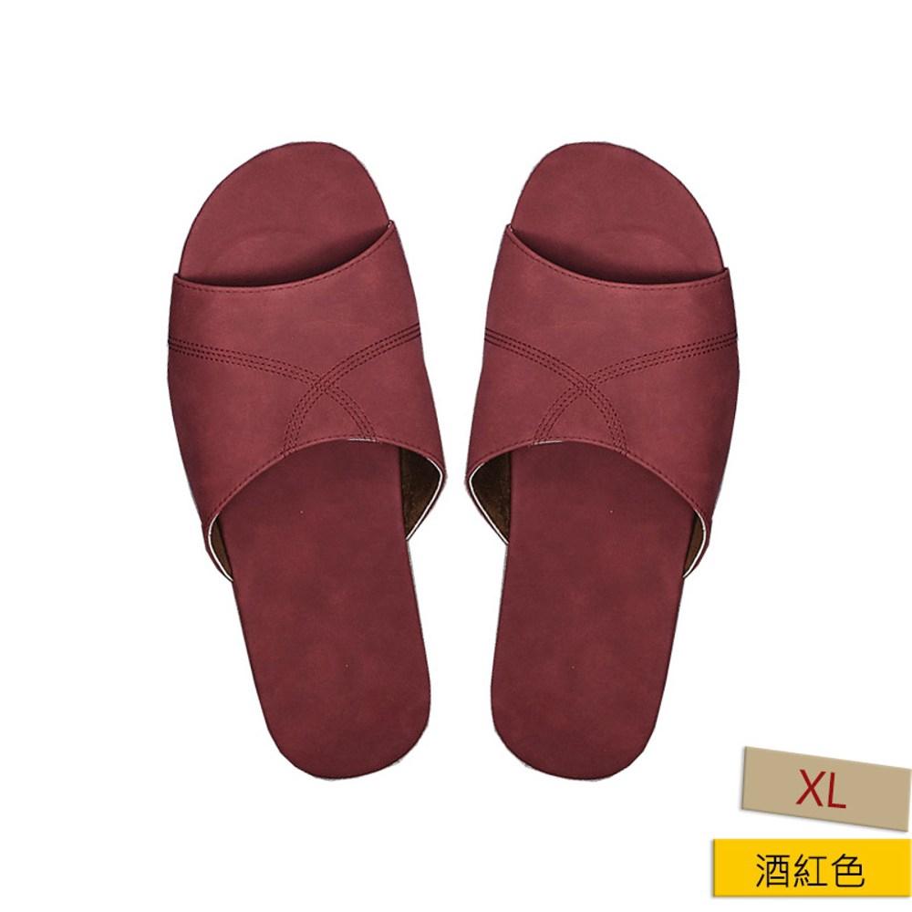 HOLA 抗菌皮拖鞋 緋紅色 L