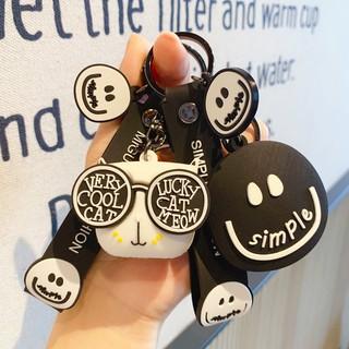 BM03 sim開心笑臉鑰匙扣男女可愛鑰匙扣包包掛件情侶配飾創意禮品批發