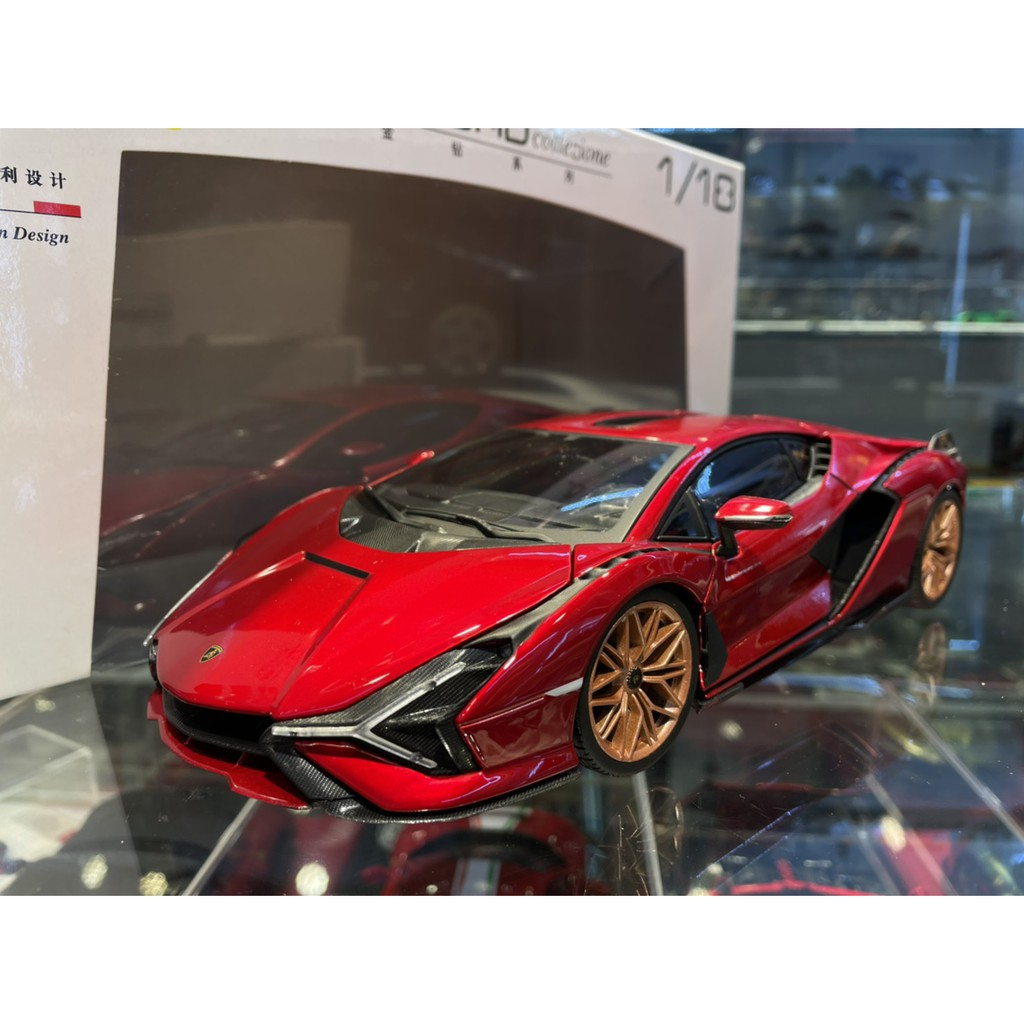 吉華科技@ 1/18 Bburago Lamborghini Sian FKP 37 金屬紅