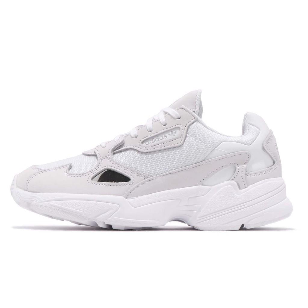 adidas 老爹鞋 Falcon W 白 灰 皮革鞋面 復古 老爺鞋 爸爸鞋 運動鞋 女鞋 B28128【ACS】