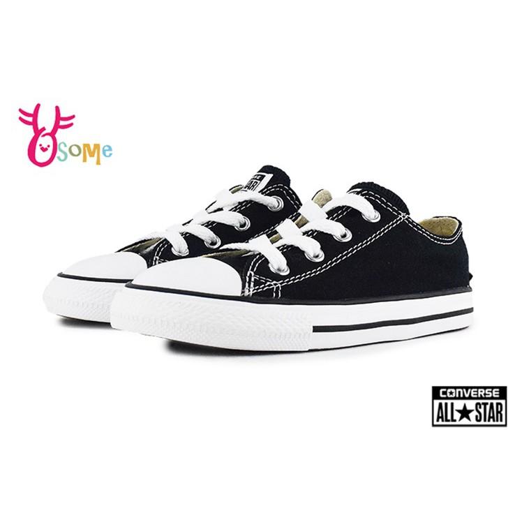 ALL STAR童鞋 寶寶鞋 Converse帆布鞋小童鞋 休閒鞋 黑色帆布鞋 G9812#OSOME奧森鞋業