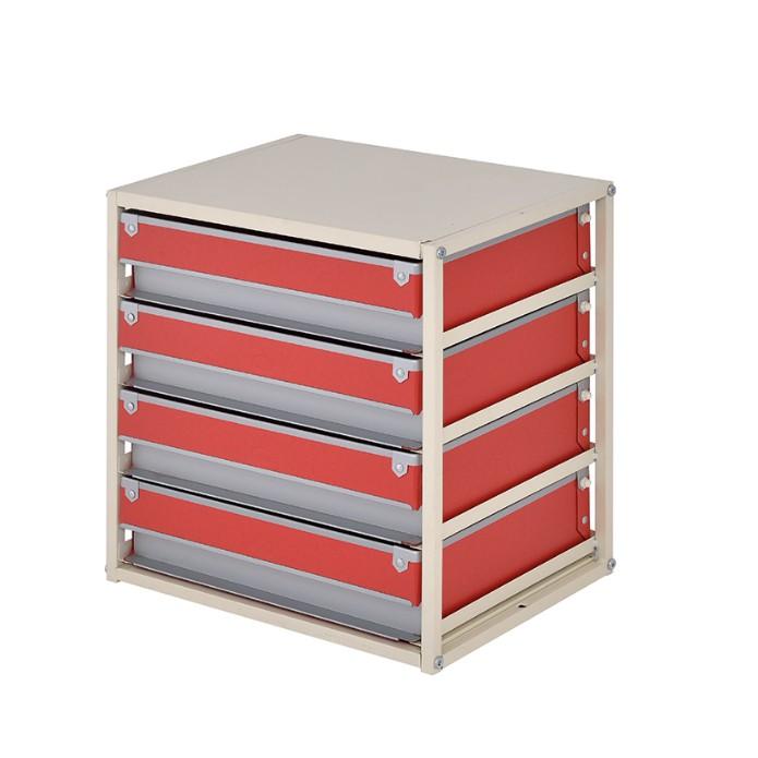 完美主義│硬式紙四抽收納盒 MIT台灣製ac 收納櫃 公文櫃 辦公收納 文件櫃 收納 收納盒【B0097】