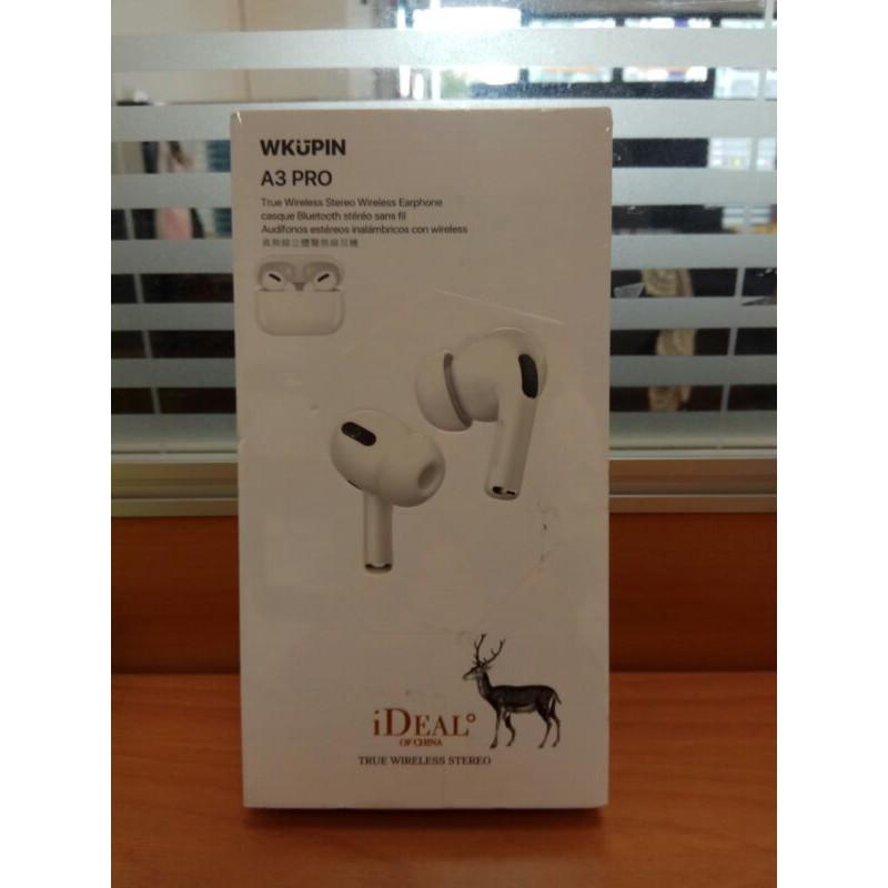 (多件優惠)WKUPIN A3 PRO 超高CP值 白鹿藍芽耳機 重低音 藍芽耳機 立體聲超讚無線耳機 入耳服貼舒適