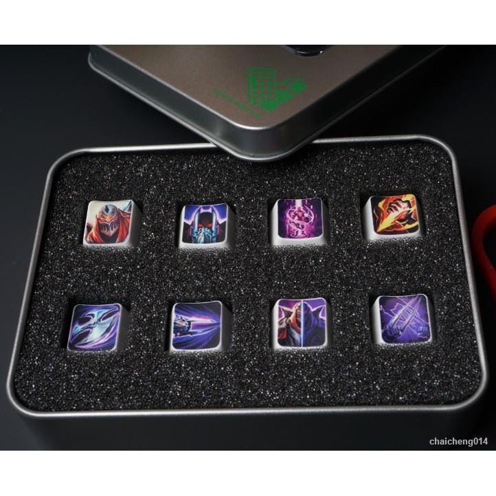 熱賣◑英雄聯盟鍵帽LOL鍵帽英雄技能 機械鍵盤個性鍵 任何英雄鍵可訂制