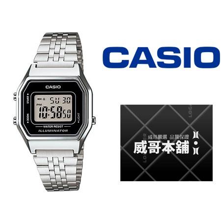 【威哥本舖】Casio台灣原廠公司貨 LA680WA-1 復古經典女電子錶 LA680WA