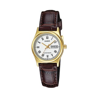 CASIO 手錶   LTP-V006GL-7B 女錶 指針錶 皮革錶帶 日/ 星期 防水 LTP-V006GL 臺中市