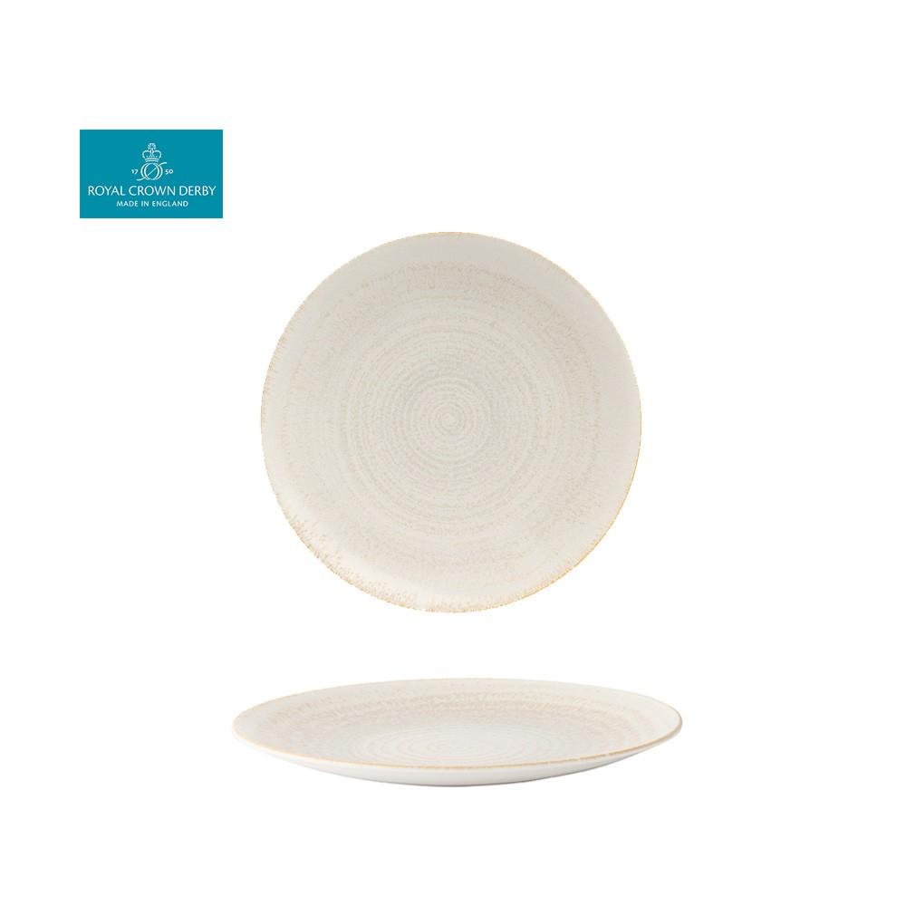【Royal Crown Derby】E.C.O.大地系列-25.5CM餐盤-珍珠白