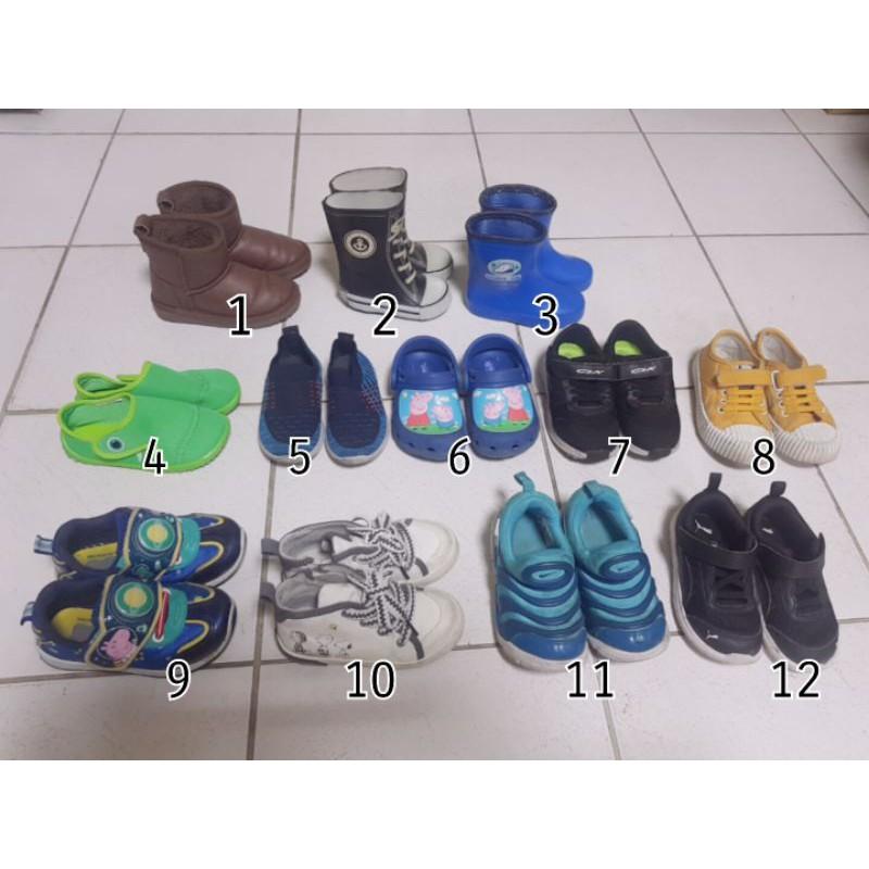 專櫃童鞋出清 雪靴 球鞋 防水鞋 涼拖鞋 雨鞋 便宜賣Nike puma 佩佩豬 史奴比 Zara 迪卡儂
