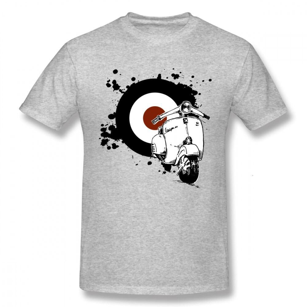 Vintage Soul Splatter Gs Vespa Scooter T 恤適合男士圓領的新奇街頭服飾