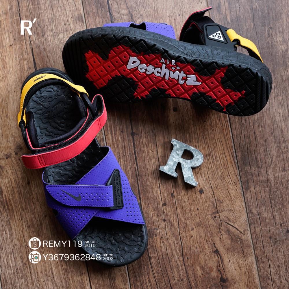 全新 Nike ACG Air Deschutz 紅黃藍黑 山系 運動涼鞋 CT3303-400 男女