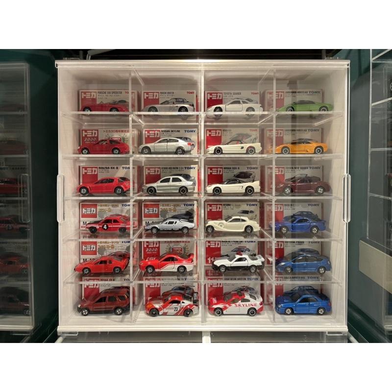 TLV多美1:64多美Tomica與MiniGT微影Tiny等1/64小車展示壓克力櫃 (不含車)
