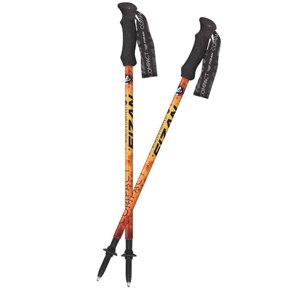 義大利FIZAN 超輕三節式登山杖 楓葉 2入組 FZS20.7102.NML