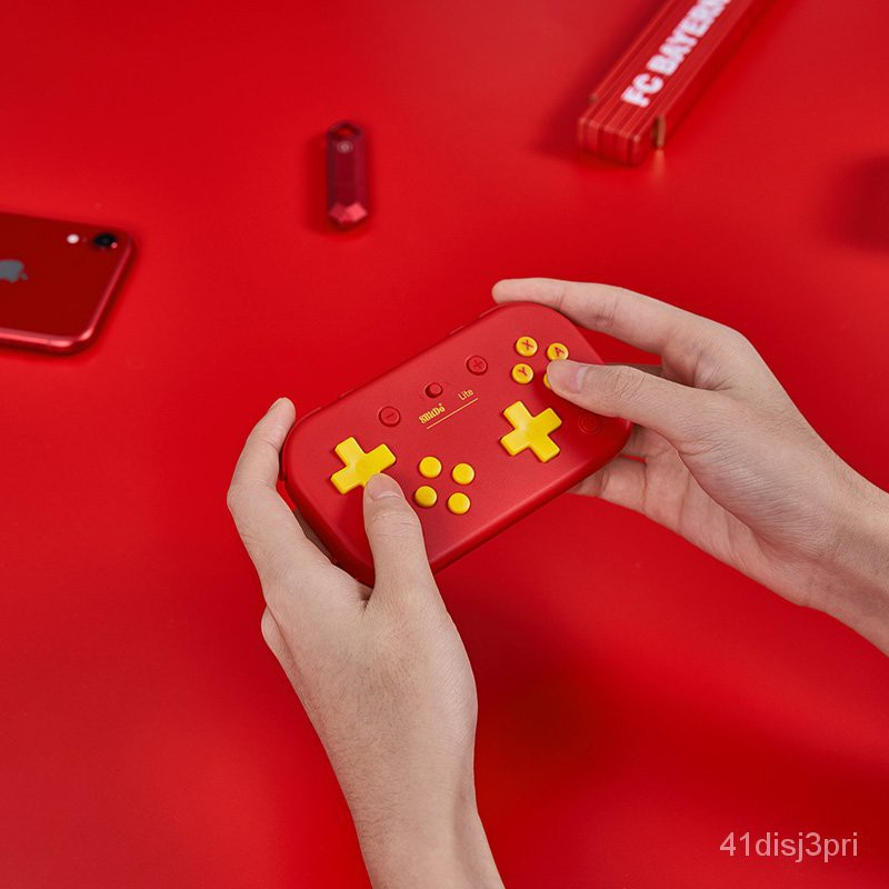 8Bitdo八位堂Lite中國紅限定藍牙手柄 Switch電腦Steam便攜2D遊戲 tvJ2