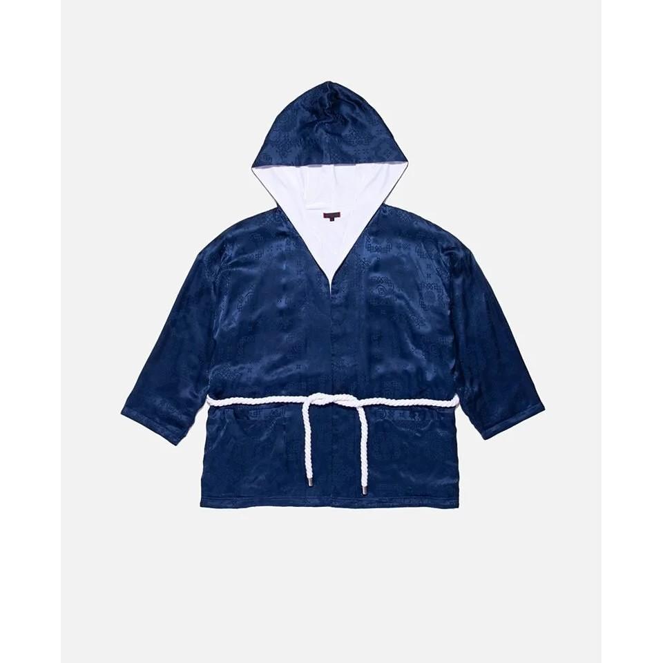 CLOT SILK ROBE 絲綢袍服 藍絲綢 日式浴袍 外套