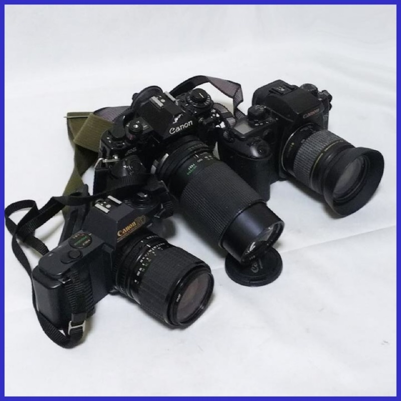 Canon a1 eos 55mm t50 底片 單眼相機 三台ㄧ起賣 無電池