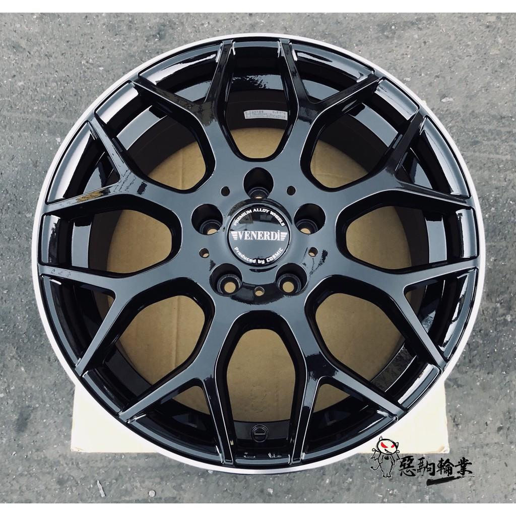 全新鋁圈 代號49 EQ 日本品牌 17吋旋壓 5孔114.3 112 108 100 亮黑車邊 另有18 19 20吋